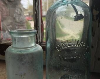 Blob Top Antique Bottle-Calumet Bottling Works- R.T. Harvey/ Prop.
