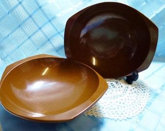 Vintage Bessemer ware Brown Bowls - Set of 2