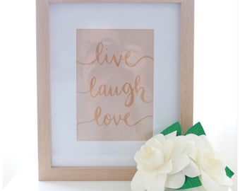 Wall Print - 'Live Laugh Love'