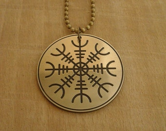 Aegishjalmur, Helm of Awe Viking Necklace,  nordic
