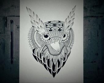 Night Owl - Original (A4)