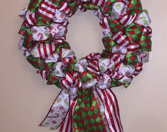 Hard Candy Christmas Ribbon Wreath