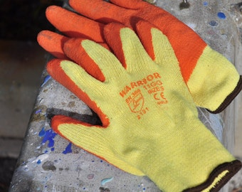 Gardening/General Purpose DIY Gloves. Latex coated palms for extra grip. Size Large