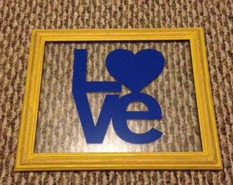 Love 8x10 picture frame
