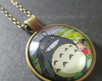 Totoro Glass Pendant Necklace