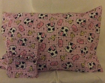 Adorable Farm Animals Pillowcase Set