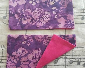 Purple Floral Strap Pads