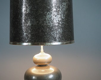 table Lampshade lamp imitation metal oxidized