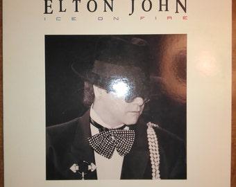Elton John Ice on Fire GHS-24077 Vinyl Record LP 1985