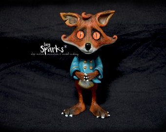 Fox Sculpture - Original & handmade.