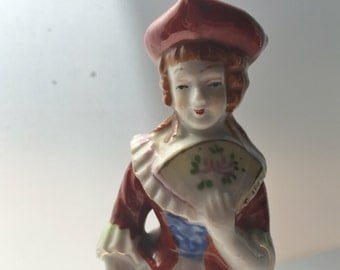 Occupied Japan Figurine of an 18th C Lady Wearing a Tricorne Hat