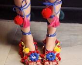 SALE Pom Gladiator Strappy Sandals