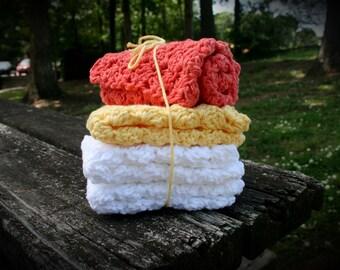 Warm Colored Washcloths