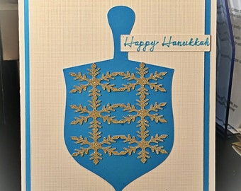 Hanukkah dreidel card