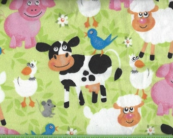 Happy Farm ,cow,pig,sheep,goose,mouse,bird,flannel