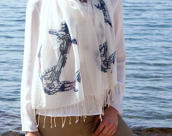 Printed %100 Cotton Scarves