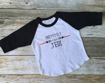 Pretty Fly for a Jedi tee. Star Wars toddler shirt. Star Wars. Star Wars Shirt. Jedi.