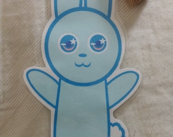 Blue and Pink Bunny Bookmarks