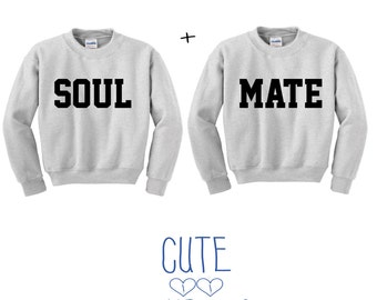 Soul Mate Couple hoodie sweater friends