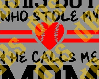 So There's This Boy - Baseball - SVG File