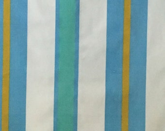 Vintage Pillowcase Pair--Bright Blues, Striped--Large Size