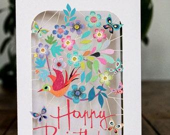 Happy Birthday Laser Card