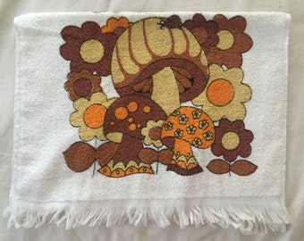 Super retro toadstool towel!