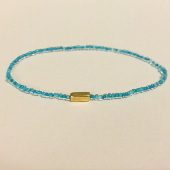 turquoise glass bead bracelet bead bracelet stretch by
