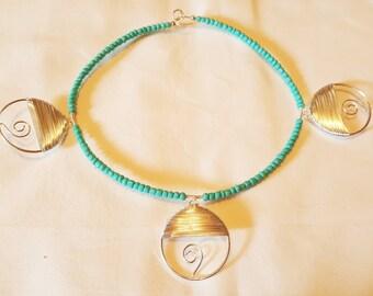 Turquoise Spiral Choker