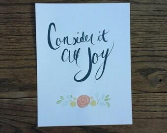 Consider it All Joy sign