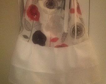 Ruffled floral pillowcase dress