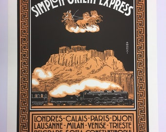 Lithographie Orient Express