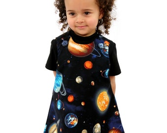 Space Baby Pinafore Dress