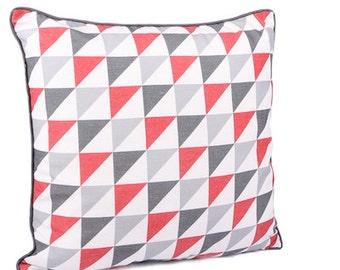 Red & Grey Cushion x 2