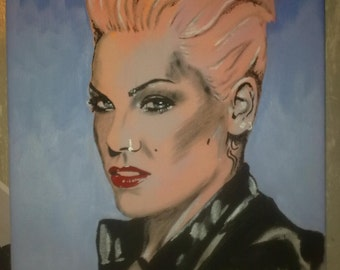 painting of PINK - singer
