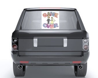 Just Married (GAME OVER) Rear Window Wedding Decal