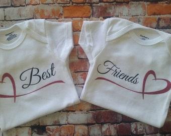 Best Friends Onesies, Twins onesies, Cousins Onesies, Multiples onesies,