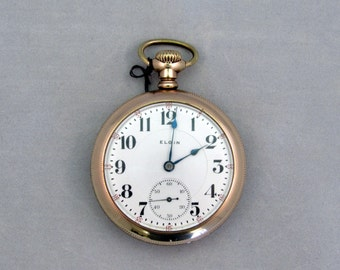 1903 Elgin Pocket Watch, 20 Year Gold Case, 23 Jewels,Serviced