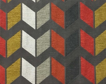 Upholstery Fabric - Ziba - Sorbet - Modern Texture Chevron Pattern Cotton Poly Blend Upholstery Fabric by the Yard - Available in 8 Colors
