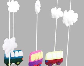 Baby Cot Crib Mobile Bus Nursery Decor