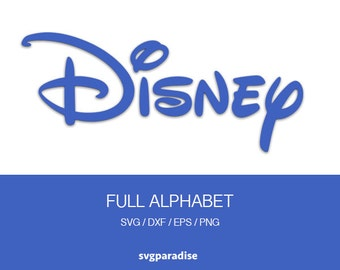 Disney Alphabet Svg, Disney Font Svg, Cuttable Files, Svg, Eps, Dxf, Studio3 use with Cricut & Silhouette