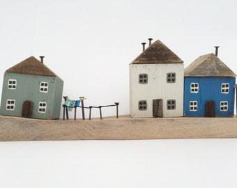 Wooden Seaside Cottage Scene