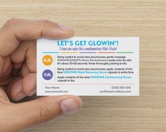 Rodan + Fields Mini-Facial Instruction Card (Customized Digital PDF)