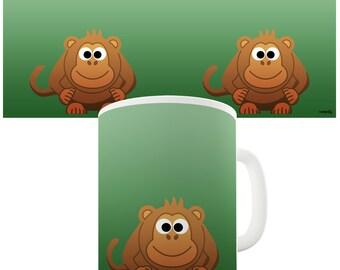 Cute Monkey Ceramic Novelty Mug