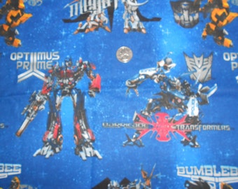 Transformers cotton fabric - 23 x 44 remnant