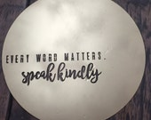 Metal Wall Art - Every Word Matters