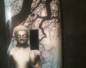 Buddha sacred tree switch plate single