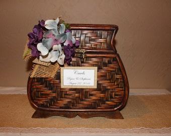 Wedding Card Box / Rustic Memory Trunk / Rustic Wedding Card Box / Rustic Wedding Trunk