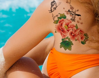 Supperb® Temporary Tattoos - Flowers in Painting