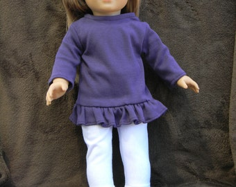 American Girl Doll Long Sleeved Rufled Tunic